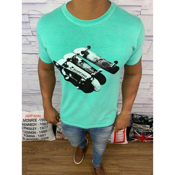 Camiseta Osk - Verde Água