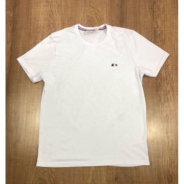 4d85a4f36d3 Camiseta Lacoste Lisa - Branca Logo Colorido