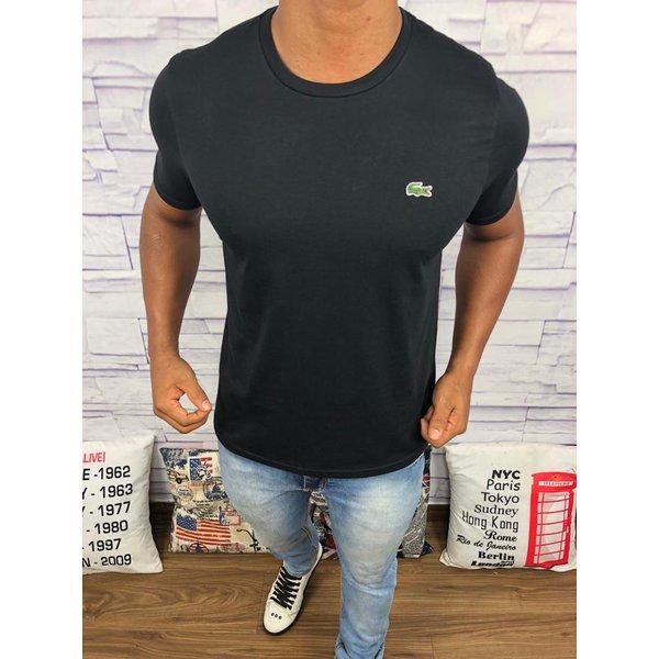 ecfef531d2b3b Camiseta Lacoste Lisa - Preta