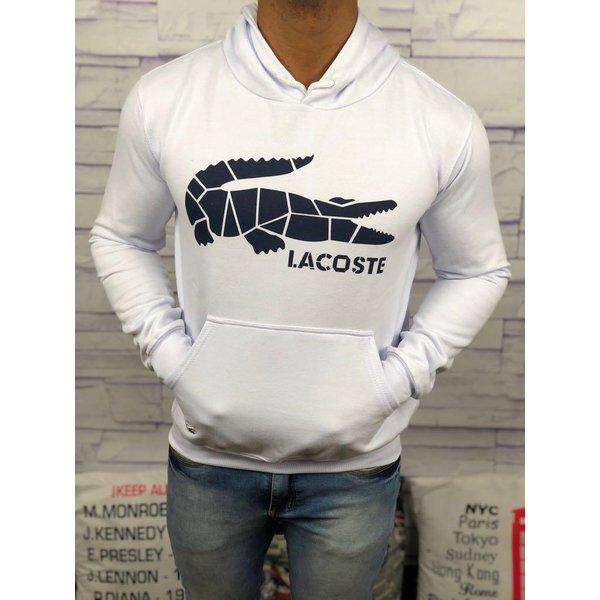 005317c0bdfe9 Blusa de Frio Branca Lacoste