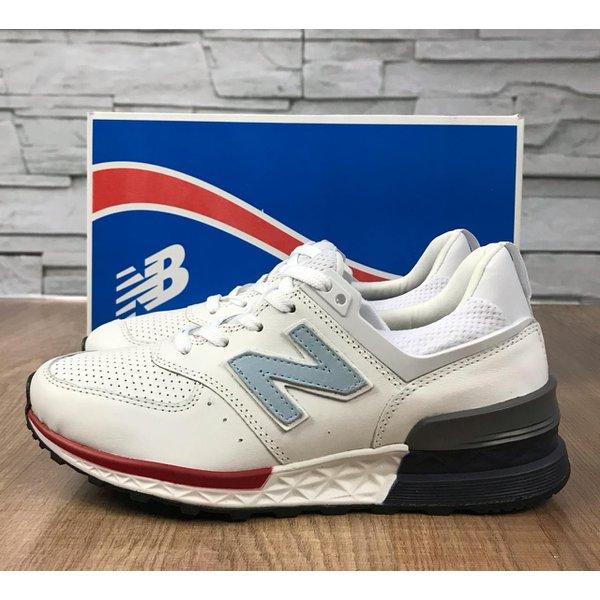 Tênis New Balance 574 - Branco com Cinza