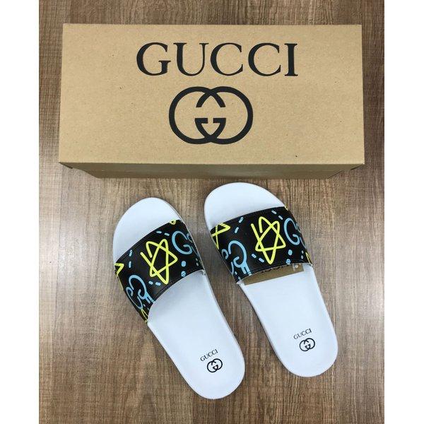 6222dd97701 Chinelo Slide Gucci Branco