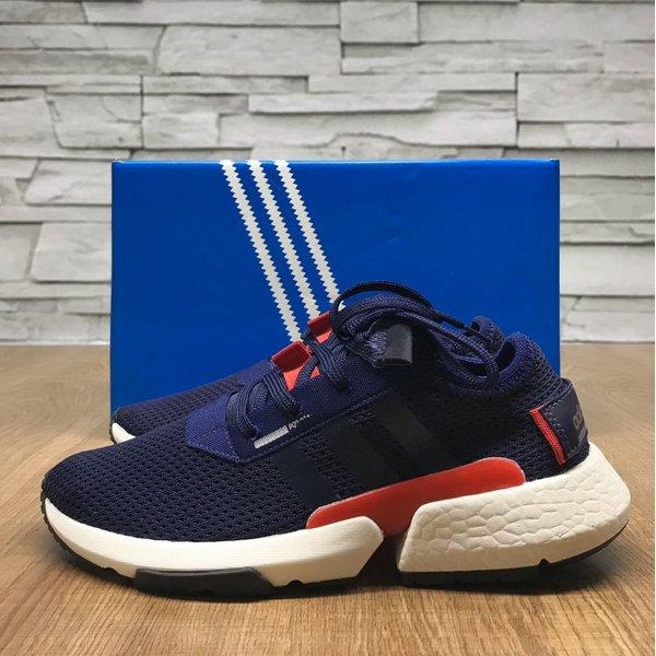 c455a75fe19 Tênis Adidas POD - S 3.1 Azul - Detalhe Laranja e Branco