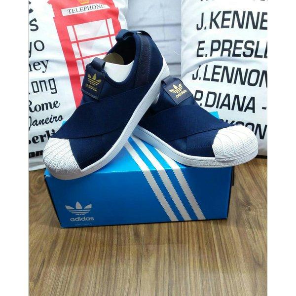Tenis Adidas Slip - Azul Marinho