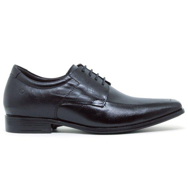 ccebe2ae8fe15 Sapato Social Cosmo Strech Taller Democrata - Preto (Com Cadarço ...