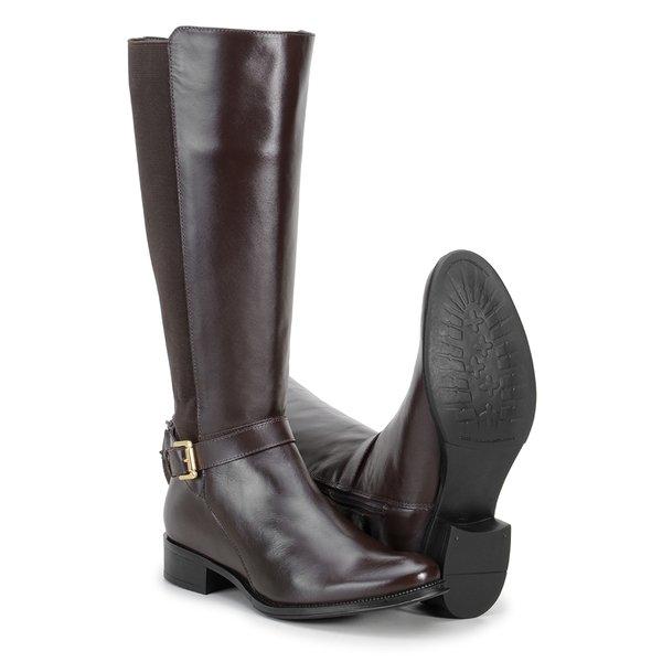 256268f4cf6f5 Bota Montaria Feminina Couro Legítimo Café - Encinas Leather 6542 |  CavalariaShop - Produtos para Cavalos e Cavaleiros