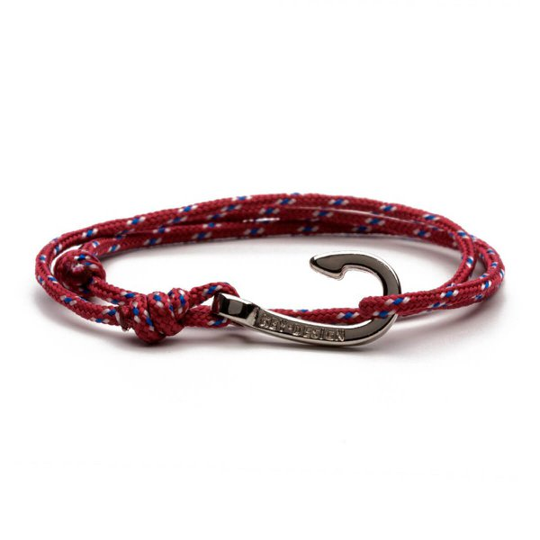 Pulseira Masculina Key Design Hook Rope Red