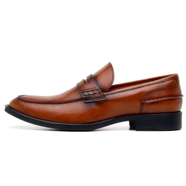 SAPATO SOCIAL MASCULINO LOAFER CNS MIKE CARAMELO