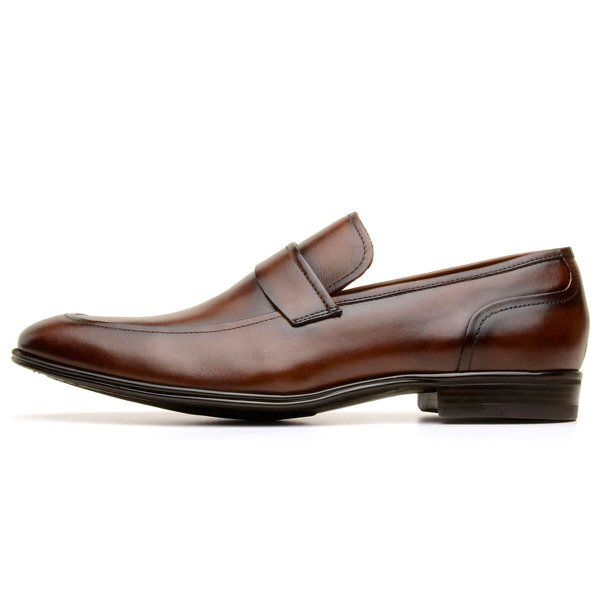 SAPATO SOCIAL MASCULINO LOAFER CNS HARRY TERRACOTA