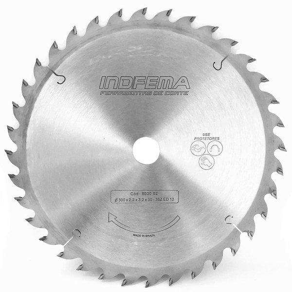 Lamina de Serra Circular com Widea 300 mm x 36 Dentes INDFEMA 803002