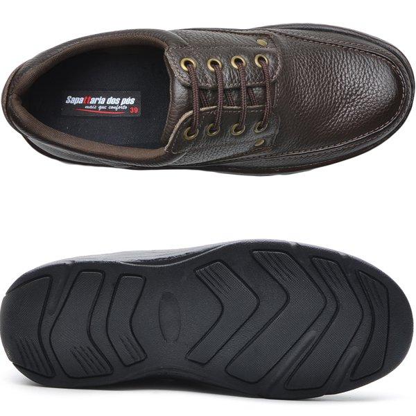 1a474f7da Sapato Masculino Conforto Cadarço Café | DED CALÇADOS