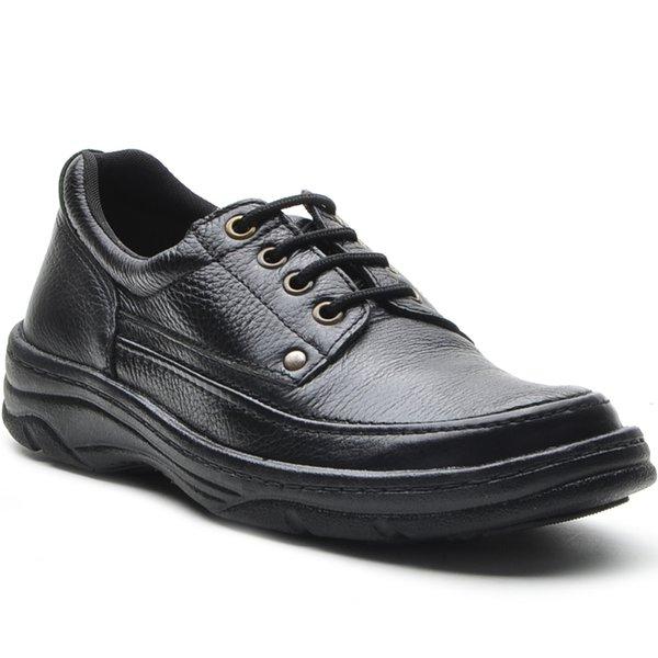 9517552f7 Sapato Masculino Conforto Cadarço Preto | DED CALÇADOS