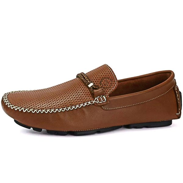 Mocassim Drive Masculino Couro Látego Diamante Alicante Mr. Light - 022 - Havana
