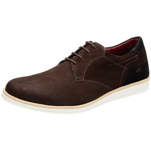 Sapato Casual Masculino Tramado Cantarazo Derby Oxford Mr Light - 605 - Café