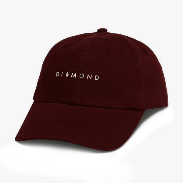 DAD HAT DIAMOND MARQUISE BURGUNDY