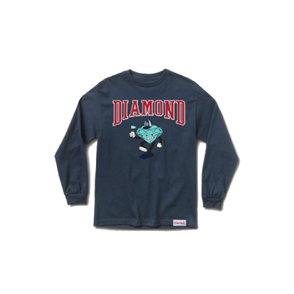 CAMISETA DIAMOND LONGSLEEVE TEAM MASCOTE NAVY