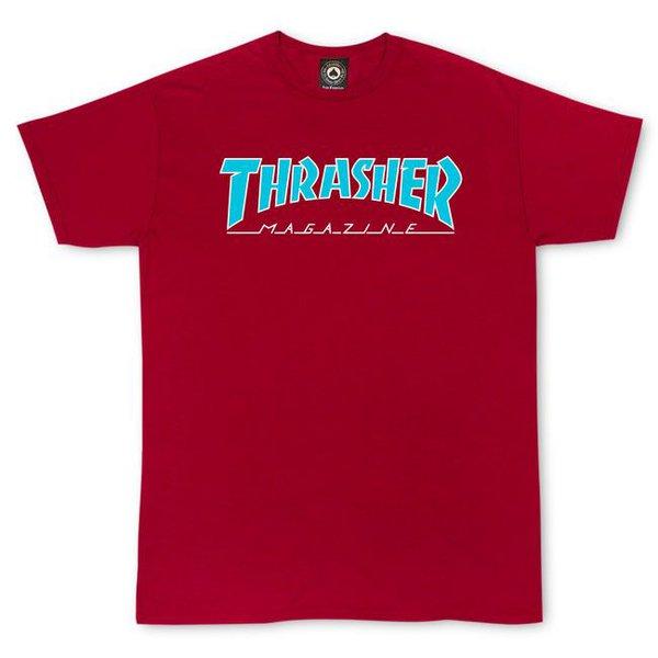 CAMISETA THRASHER OUTLINED RED