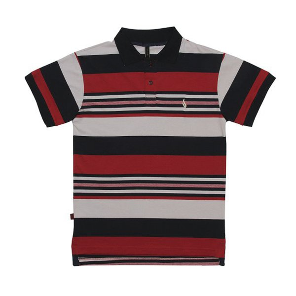 CAMISA SIMPLE POLO LISTRAS BRICK RED