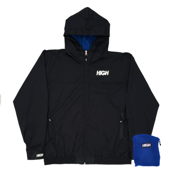 LIGHTWEIGHT HIGH JACKET LOGO BLACK/BLUE
