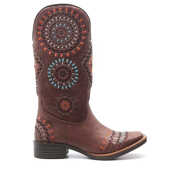 718e025f4a Bota Country Feminina Tucson Omaha - Rock Oil Camel - Marrom ...