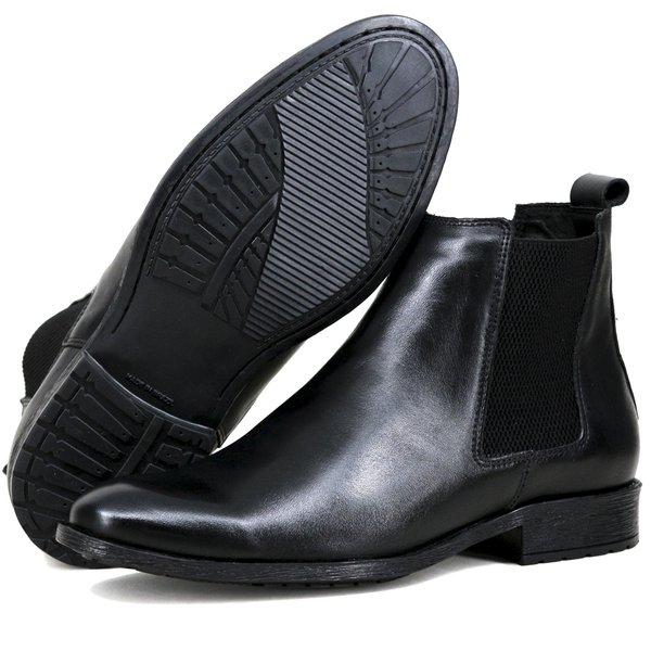 33796dfd59 Chelsea Boots Social ESCRETE Liso Lançamento 771 Napa Preto