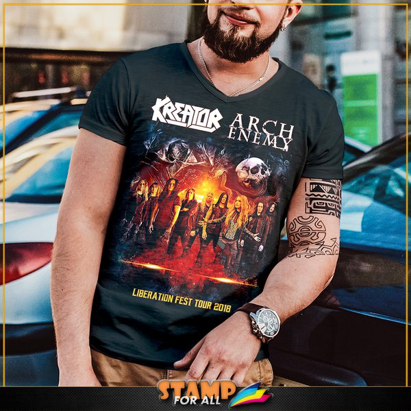 Camiseta kreator arch enemy