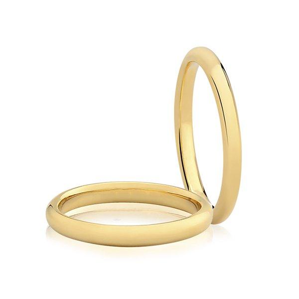 Par de Aliança Casamento e Noivado de Ouro 18K com 2mm