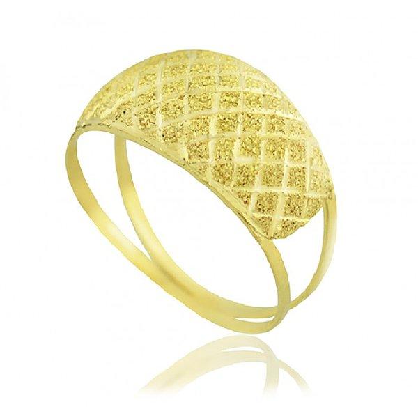 Anel de Ouro 18K Diamantado