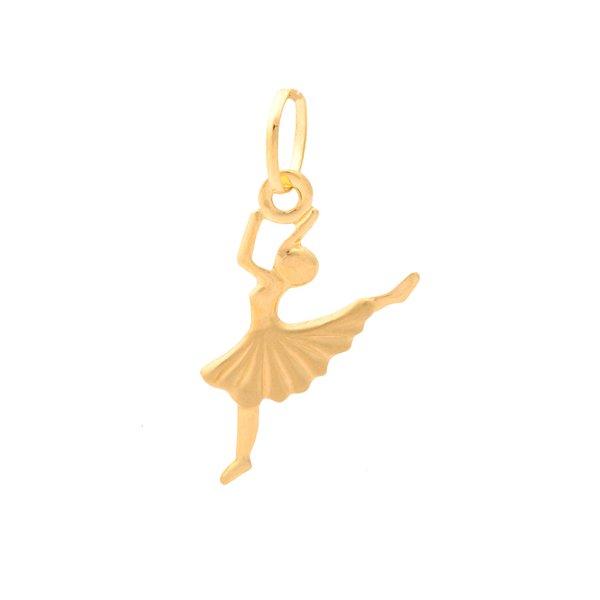Pingente de Ouro 18K Bailarina