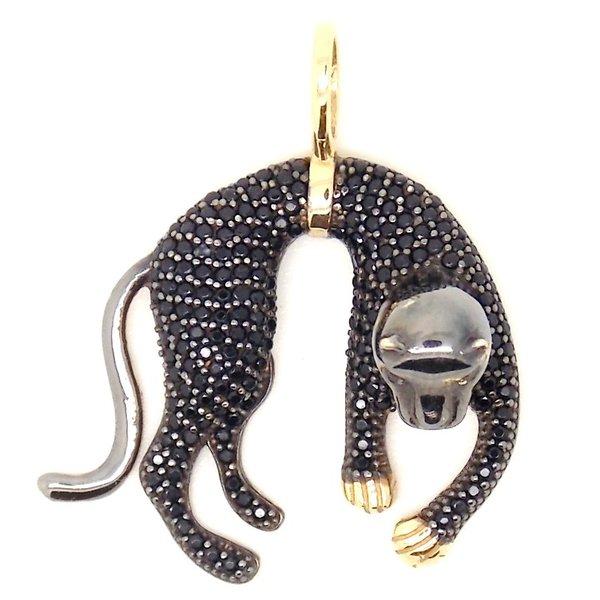 Pingente de Ouro 18K Pantera Negra pequena