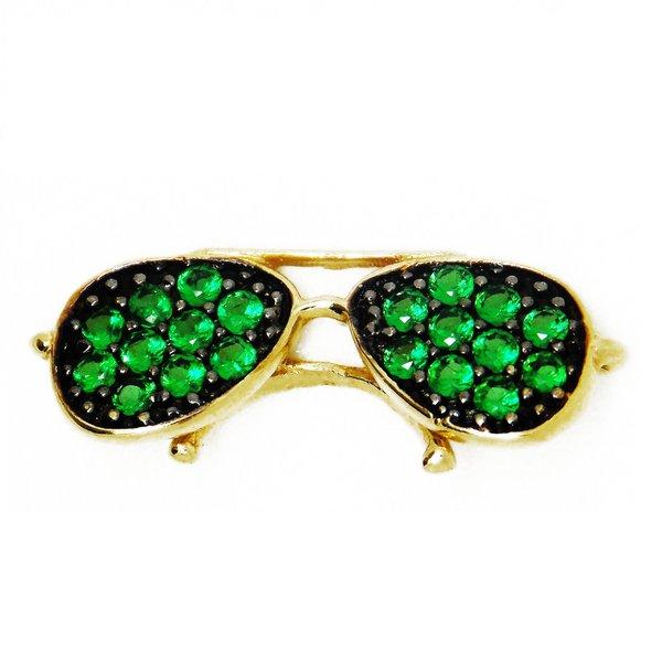 Pingente de Ouro 18K Óculos