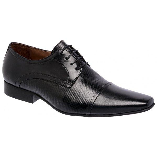 Sapato Social Bari Pelica/Estampa Preta
