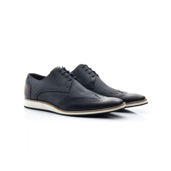 Sapato Casual Oxford Masculino Couro Marinho 516