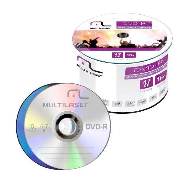 Dvd-r Multilaser 4.7gb /16x - Logo c/100un.