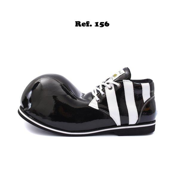 Sapato de Palhaço Preto/Branco Listras