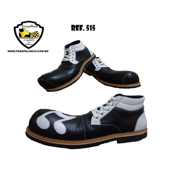 Sapato de Palhaço Preto com Branco Ref 515