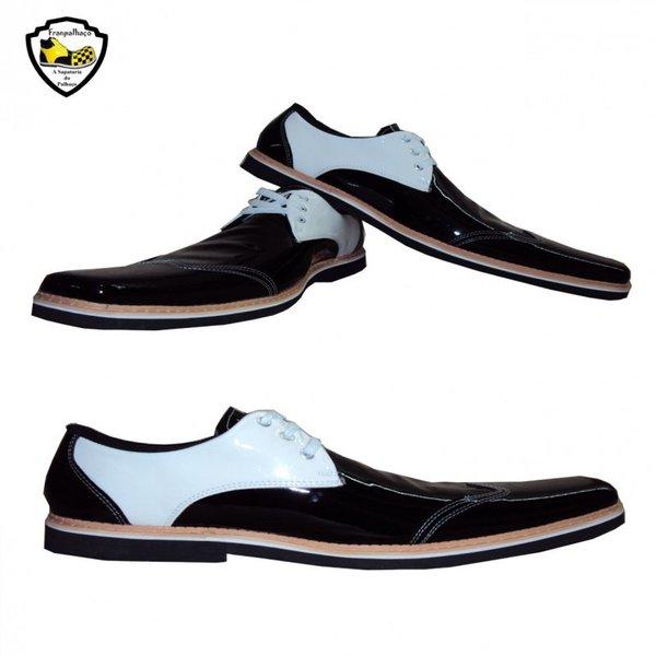 Sapato de Palhaço Inglês Preto/Branco com Perfil baixo Ref 951
