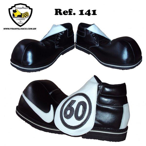 Sapato de Palhaço Preto/Branco 141
