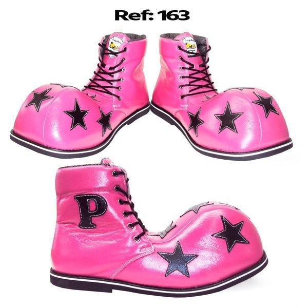Sapato de Palhaço Infantil Estrelas Cano Alto Ref 163