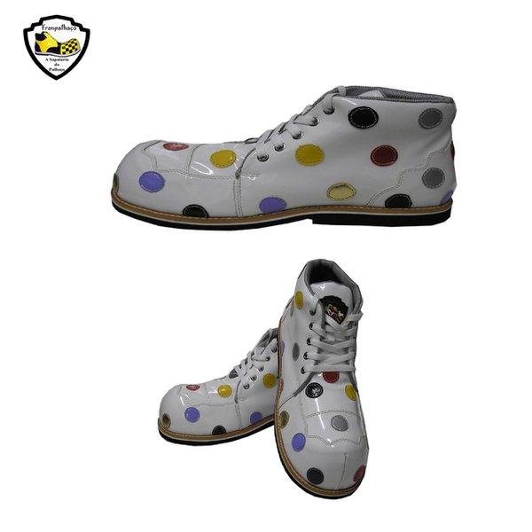 Sapato de Palhaço Infantil Bolinhas Coloridas Ref 404