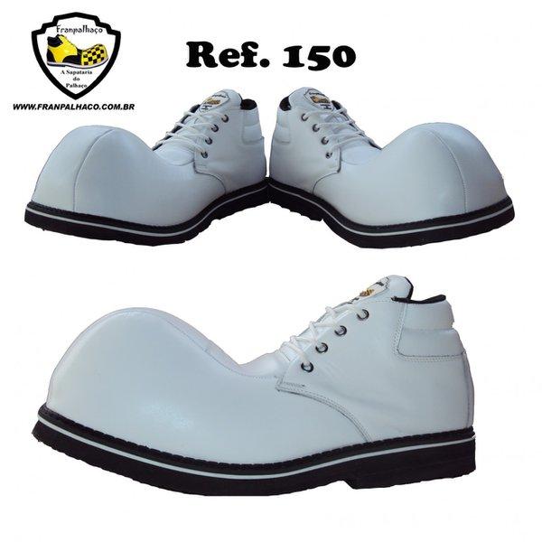 Sapato de Palhaço Branco Ref 150 infantil