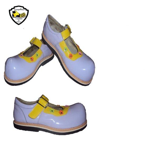 Sapato de Palhaço Feminino Lilás/Amarelo Ref 900