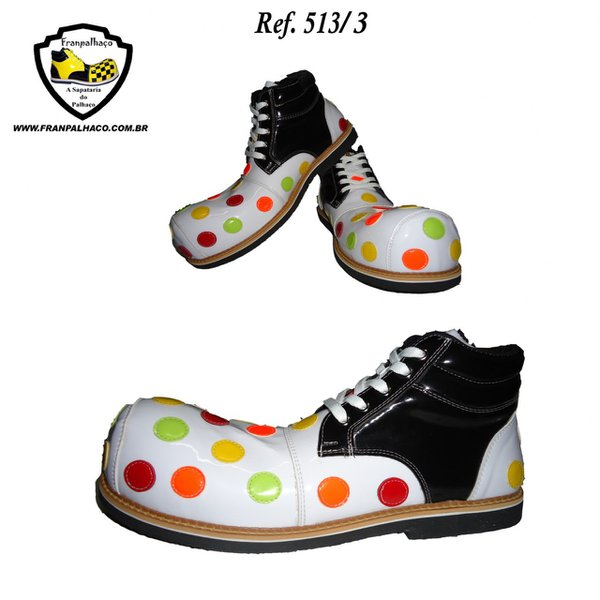 Sapato de Palhaço Infantil de Bolinhas Ref 513