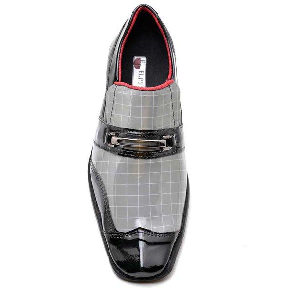 d66fb71163 Sapato Social em Couro Verniz Bico Quadrado