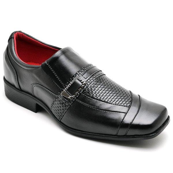 3f7e357dad Sapato Social Masculino Couro Verniz Bico Quadrado