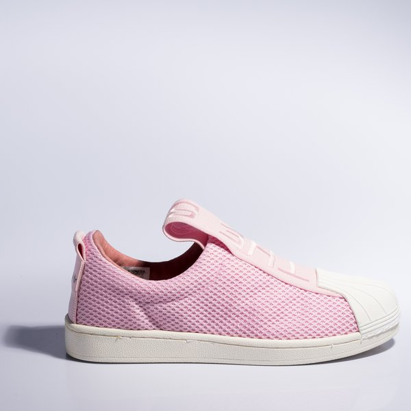 9208db821 Tênis Adidas Superstar Slip-On BW - Rosa