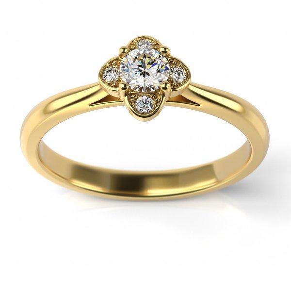 Solitário Ouro 18k com Diamantes