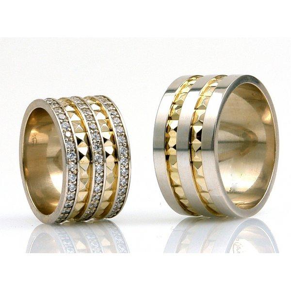 Aliança de Casamento com Diamantes 11 MM