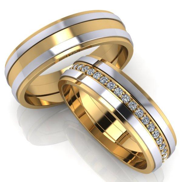a9e036986b507 Aliança de Ouro - Casamento e Bodas com Diamantes - 0575AL