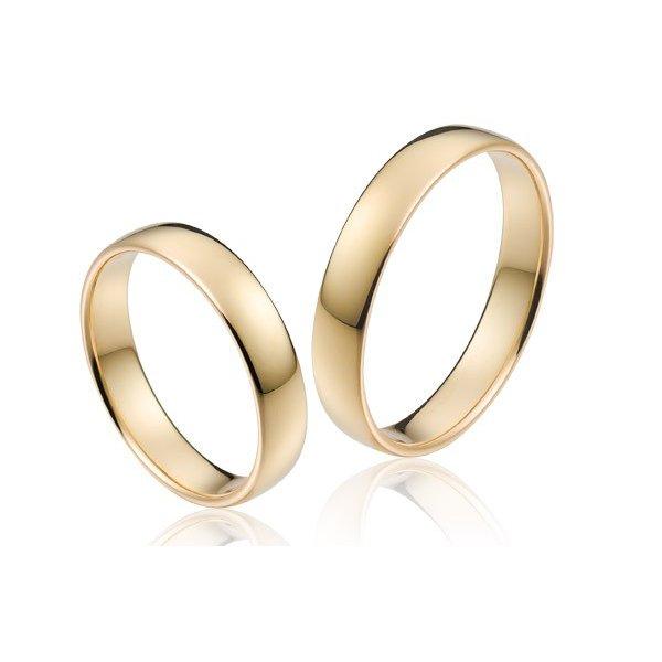 Aliança Clássica 4,0 Milímetros em Ouro 18k 750 - Casamento e Noivado